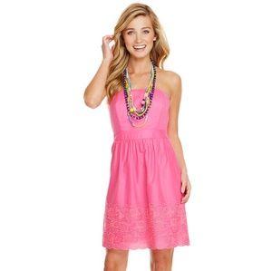 Vineyard Vines Strapless Eyelet Lace Dress L 14
